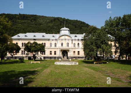Skole, Ukraine - August 30 2018: Baron Groedl neo baroque style palace in Skole early 1930 - Stock Photo