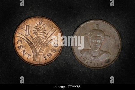 Swaziland 1 cent, 1986 - Stock Photo