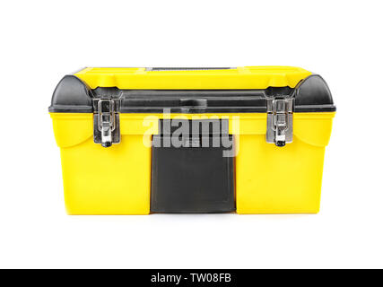 Chest with tools on white background - Stock Photo