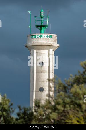 Phare du Hourdel en baie de Somme - Stock Photo