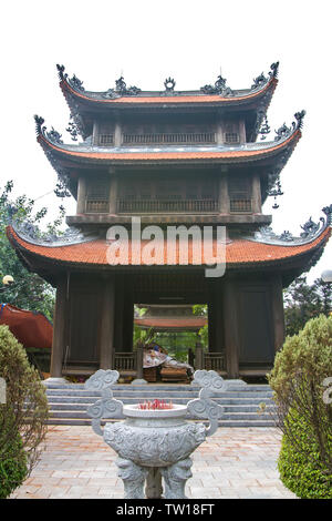 Pagoda of Pho Chieu Temple in Hai Phong, Vietnam - Stock Photo