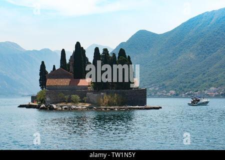 St George Island, Kotor Bay - Stock Photo