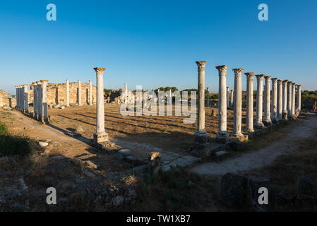 Ancient ruins of Salamis, Famagusta, Cyprus. - Stock Photo