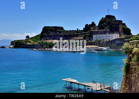 Corfu town old fortress,Corfu,ionian islands,greece,greek islands,kerkyra - Stock Photo