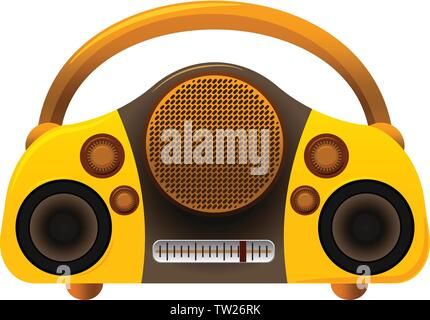 Boombox radio icon. Cartoon of boombox radio vector icon for web design isolated on white background - Stock Photo