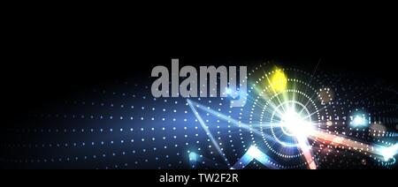 Neural network concept. Connected cells with links. High technology process. Abstract futuristic background - Stock Photo