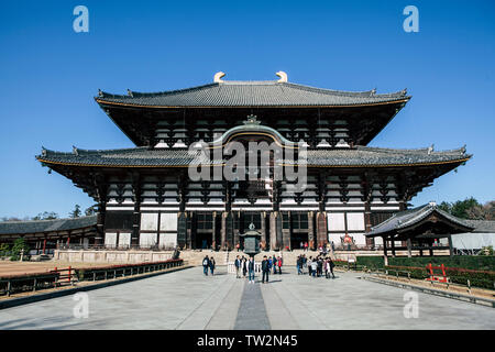 Nara, Japan - December 21, 2018. The Tōdai-ji temple, a Buddhist temple complex in the Nara Park. (Photo credit: Gonzales Photo - Thomas Neukum). - Stock Photo