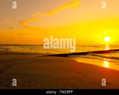 Sonnenuntergang an der Ostsee - Stock Photo