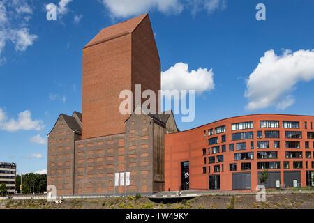NRW State Archive, Landesarchiv Nordrhein-Westfalen, Innenhafen, Duisburg, Ruhr Area, North Rhine-Westphalia, Germany, Europe - Stock Photo
