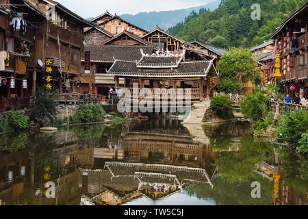 Dong village, Zhaoxing, Guizhou Province, China - Stock Photo