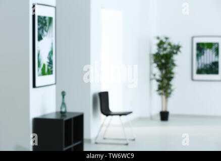 Blurred view of art gallery - Stock Photo