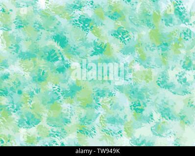 Abstract watercolor texture, iridescent holographic background, vector illustration - Stock Photo