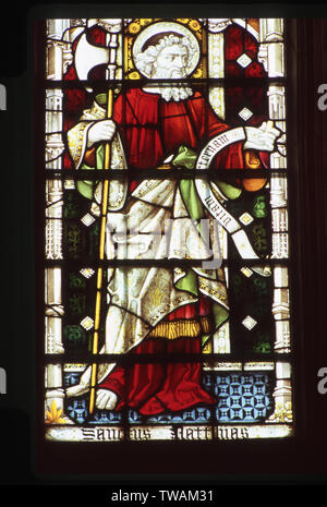 Stained glass window, St Matthew, St Edmundsbury Cathedral - Stock Photo