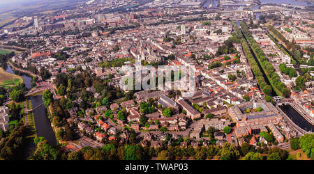 Panorama aerial of Den Bosch , the Netherlands - Stock Photo