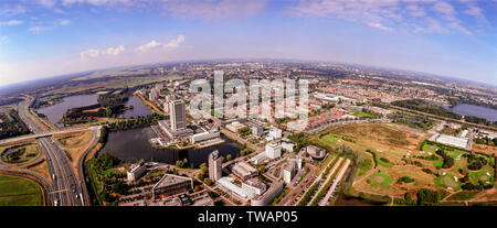 Panorama aerial of Den Bosch with Country Building , the Netherlands - Stock Photo