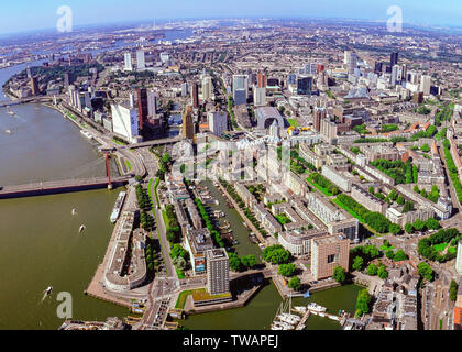 Aerial of Rotterdam, the Netherlands - Stock Photo