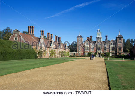 Blickling Hall is a Jacobean mansion in Norfolk, built on the ruins of the old Boleyn property in 1616. - Stock Photo