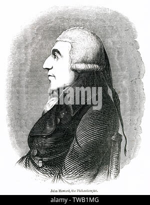 John Howard (1726 - 1790), philanthropist and early English prison reformer.      Date: - Stock Photo