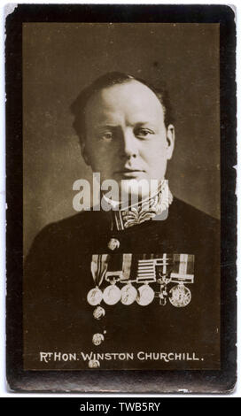 Winston Churchill (1874-1965), British politician, army officer and writer.      Date: circa 1913-1914