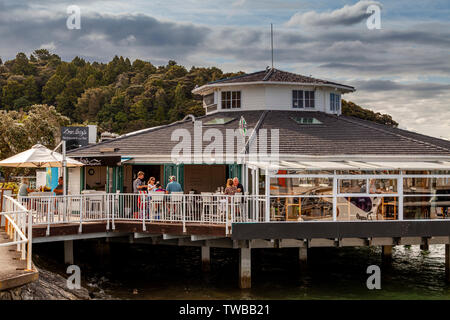 Seaside Cafe, Paihia, The Bay Of Islands, North Island, New Zealand - Stock Photo