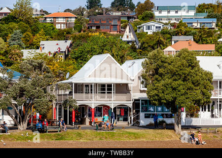 The Town Of Russell, The Bay Of Islands, North Island, New Zealand - Stock Photo