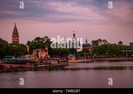 Orlando, Florida. May 16. 2019. in Epcot at Walt Disney World