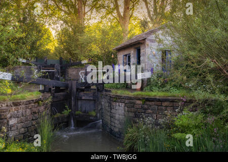 The Welcome to Yorkshire garden at the Chelsea Flower Show in London, UK. - Stock Photo