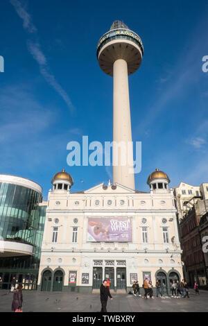 Playhouse,Theatre,St Johns Beacon,Radio City,Tower,St John's Tower,Liverpool,Merseyside,north,northern,city,England,English,GB,Britain,British,UK, - Stock Photo