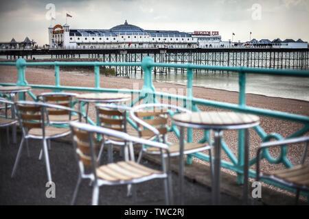 brighton sea front scene English seaside