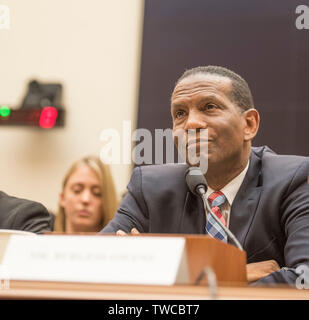 Washington DC , June 19, 2019, USA: Burgess Owens testifies at The House Judiciary Subcommittee on the Constitution, Civil Rights, and Civil Liberties - Stock Photo