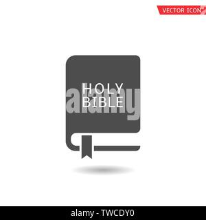 Holy Bible icon. Book sign, Vector illustration - Stock Photo