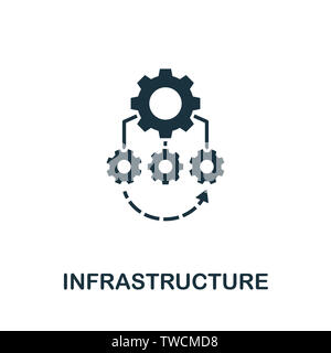 Infrastructure icon illustration. Creative sign from quality control icons collection. Filled flat Infrastructure icon for computer and mobile. Symbol - Stock Photo