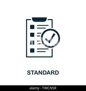 Standard vector icon illustration. Creative sign from quality control icons collection. Filled flat Standard icon for computer and mobile. Symbol, log - Stock Photo