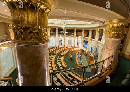 Little Rock, Arkansas - The House of Representatives chamber in the Arkansas state capitol building. - Stock Photo