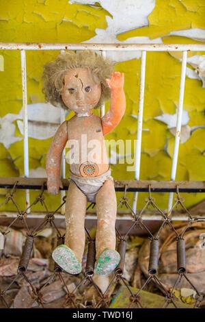 Eastern Europe, Ukraine, Pripyat, Chernobyl. doll. - Stock Photo