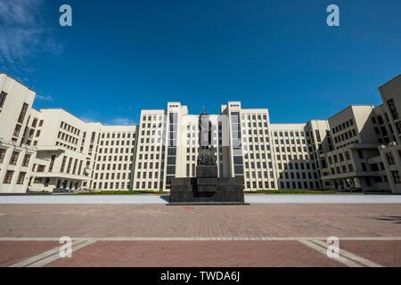 Independence Square, Minsk, Belarus. - Stock Photo