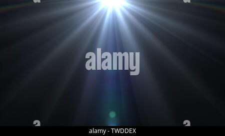 lights flares background glow light bright blue for overlay sun background design - Stock Photo