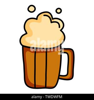 beer jar drink isolated icon vector illustration design - Stock Photo