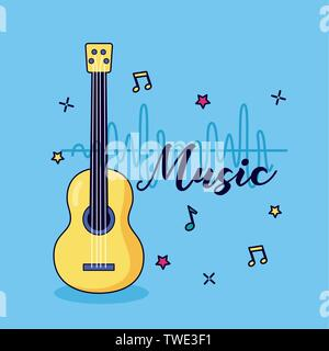 guitar music colorful background