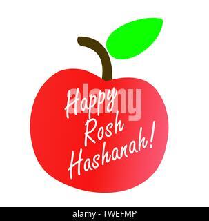 Rosh Hashanah or Jewish Near year greetings - Stock Photo