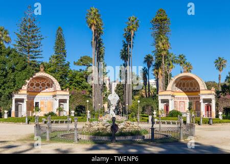 Villa Giulia Park, Palermo, Sicily, Italy, Europe - Stock Photo