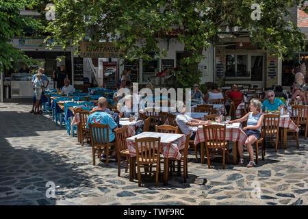 Skopelos Town Square, Northern Sporades Greece. - Stock Photo