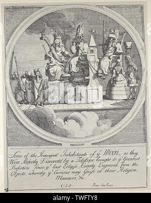 William Hogarth - Royalty Episcopacy Law - Stock Photo