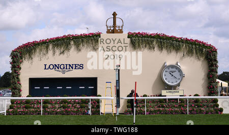 Ascot Racecourse, Berkshire, UK. 20th June, 2019. Royal Ascot Horse Racing; The Finishing Post Credit: Action Plus Sports/Alamy Live News - Stock Photo