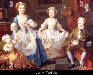 William Hogarth - Graham Children 1742 - Stock Photo