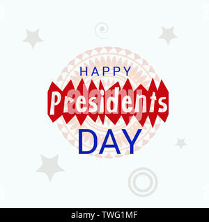 Happy Presidents Day background template - Stock Photo