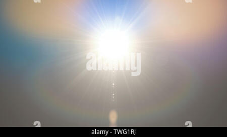 Abstract lights flares background bright colorful color for overlay sun background design - Stock Photo