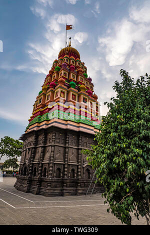 Colorful Hindu Temple at Wagholi, Pune India.