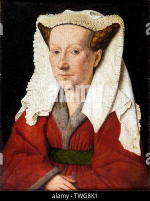 Jan van Eyck, Margareta van Eyck, portrait painting, 1439 - Stock Photo