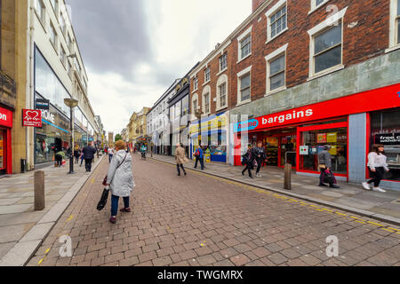Shopping in the centre of Liverpool at Liverpool one and on Bold St - Stock Photo